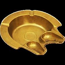 Austrian Art Deco Brass Ashtay