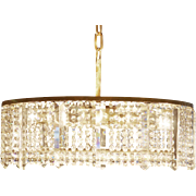 Austrian Cut Crystal Chandelier By Bakalowits & Söhne