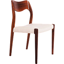 Set of Six Rio-Palisand Dining Chairs by Niels Otto Møller Model 71