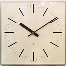 Elegant German Telenorma Electric Wall Clock