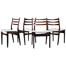 Set of Four Rosewood Swedish Dinning Chairs