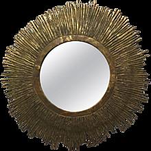 Mid-Century Solid Brass Mirror