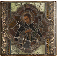 Hand-Painted and Stained Glass Window