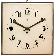 Large Bauhaus Wall Clock