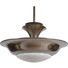 Bauhaus Pendant with Opaline Shade