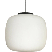 Huge Opaline Glass Pendant