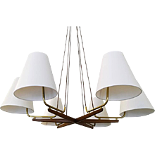 "Large ""Holzstern"" Chandelier by J.T. Kalmar"