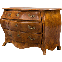 Large Swedish Rococo Commode, Chest of Drawers