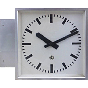Large C.T. Wagner Double Faced Station Clock