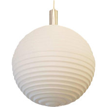 Large Opaline Glass Pendant