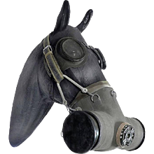 Russian Horse Gas Mask with Coverall