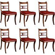 Set of Six English Regency Rosewood and Mahogany Chairs