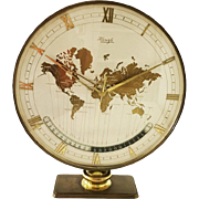 Big Kienzle Weltzeituhr Modernist Table World Timer Zone Clock