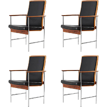 Set of Four Finnish Rosewood Armchairs