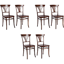 Set of Six Thonet Model 221 Dining Chairs
