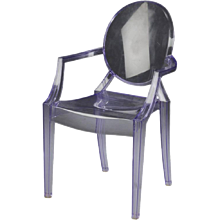 Purple Kartell Louis Ghost Chair by Philippe Starck