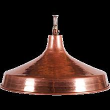 Mid-Century Hammered Copper Pendant Light