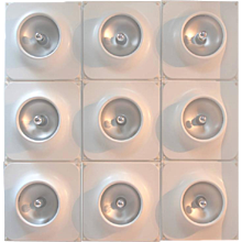 Large Staff Flush or Wall Mount Light