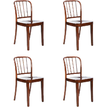 Set of Four Thonet Dining Chairs by Josef Frank