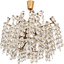 Cut Crystal Chandelier by Bakalowits