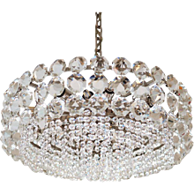 Large Crystal Glass Chandelier by Bakalowits