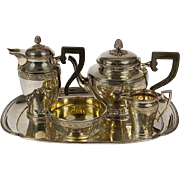 Christofle Tea and Coffee Set with Ebony Handles