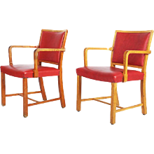 Morgens Koch Oak Armchairs for Sønderborg Hospital