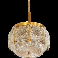 Mid-Century Brass Chandelier