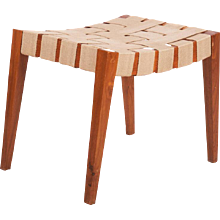 Wooden Stool with Jute Belts