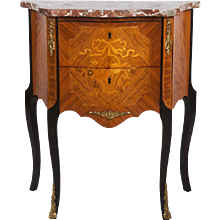 Louis XV Style Marquetry Side Table
