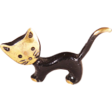 Beautiful Small Cat Sculpture by Walter Bosse