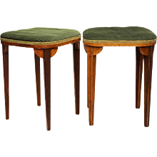 Pair of Thonet Stools Attributed to Otto Prutscher