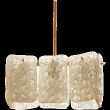 J. T. Kalmar Ice Glass Chandelier
