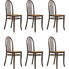 Set of Six Thonet Chairs No. 644 Designed by Josef Hoffmann