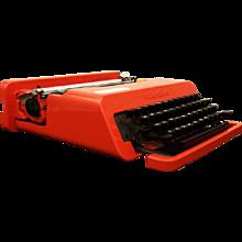 """Olivetti """"Valentine"""" Typewriter by Ettore Sottsass"""