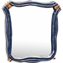 "Art Deco Ceramik Wall Mirror by ""Gmundner Keramik"""