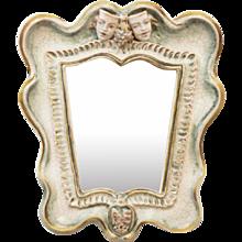 "Art Deco Ceramik Wall Mirror by ""Gmundner Keramik"" Model 2140"
