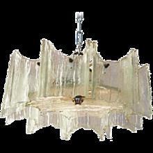 J.T. Kalmar of Austria Ice Glass Chandelier