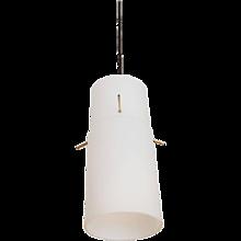 J.T. Kalmar Milk Glass Pendant
