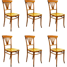 Set of Six Thonet No. 221 Chairs
