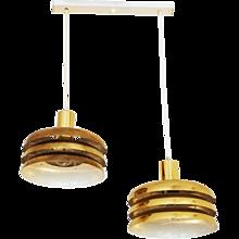 Austrian J.T. Kalmar Lamellar Lamp