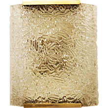 Large Ice Glass J.T. Kalmar Sconce
