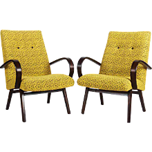 Pair of Mid-Century Czech Armchairs
