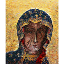 """Large Tapestry Icon """"Madonna"""" by Beata Rosiak"""