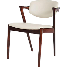 Rosewood and Leather Chairs by Kai Kristiansen Model 42