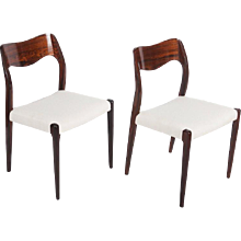 Rosewood Dining Chairs by Niels Otto Møller Model 71