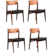 Set of Four Mid-Century Danish Rosewood Dining Chairs