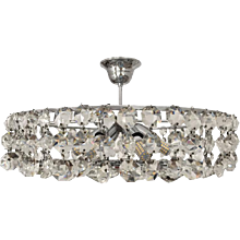 Austrian Cut Crystal Chandelier Attributed to Bakalowits and Soehne