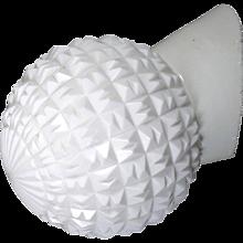 Opaline Glass Mid-Century Flush Mount