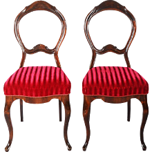 Pair of Mahogany Chairs Form 1850s